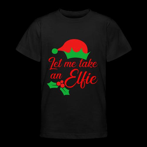 Weihnachten   Elf Mütze Weihnachtself Wortspiel - Teenager T-Shirt