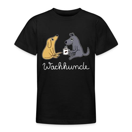Wachhund trinkt Kaffee Koffein weckt müde Hunde - Teenager T-Shirt