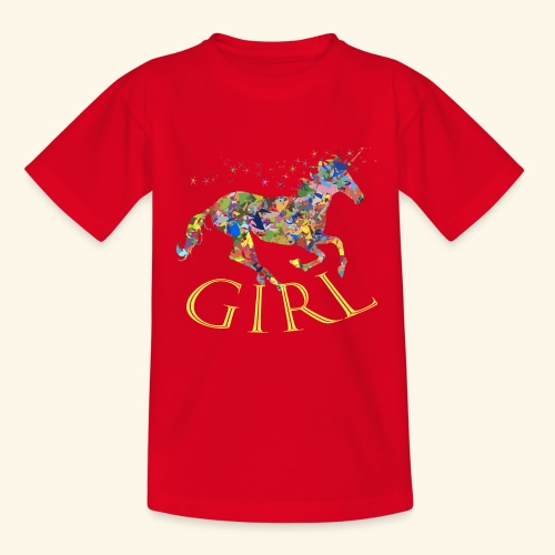 unicorn girl T-shirt - Maglietta per ragazzi