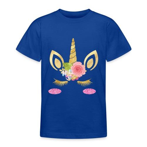 unicorn face - Teenager T-Shirt