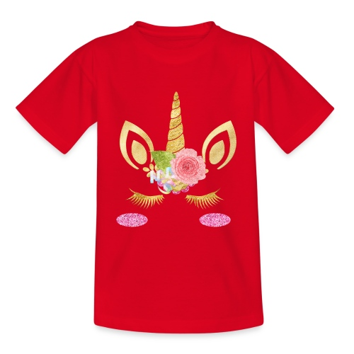 unicorn face - Teenager T-Shirt