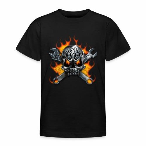 skull with crosstools - Nuorten t-paita