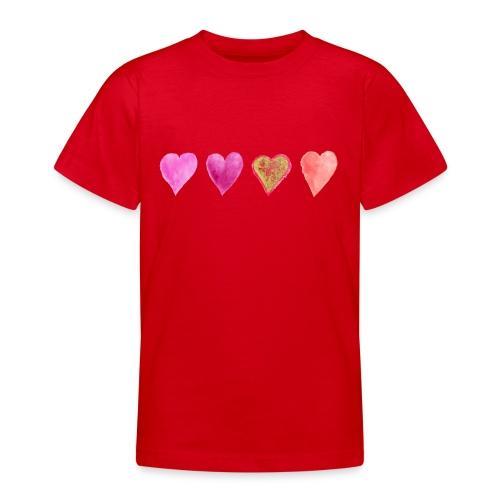 Herzen - Teenager T-Shirt