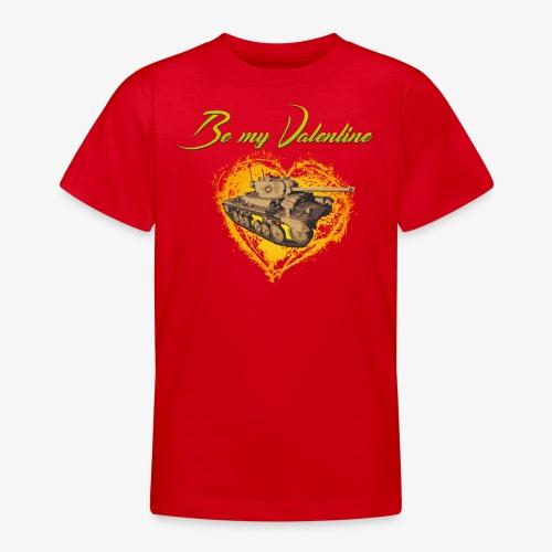 Glowing Valentine Heart - Teenager T-Shirt