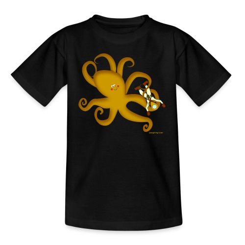 Giant Octopus Diver - Teenage T-Shirt