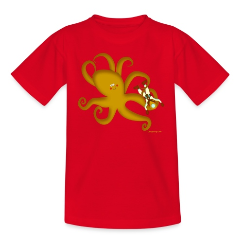 Giant Octopus Diver - Teenage T-Shirt