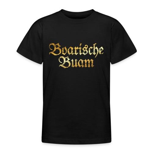 Boarische Buam - Bayerische Buben (Vintage/Gelb) - Teenager T-Shirt