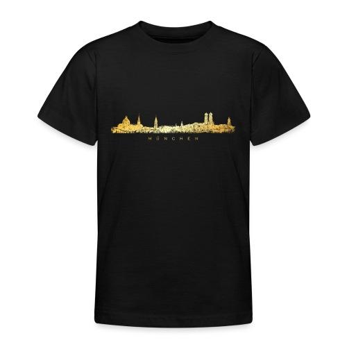 Münchener Skyline (Vintage/Goldgelb) München - Teenager T-Shirt