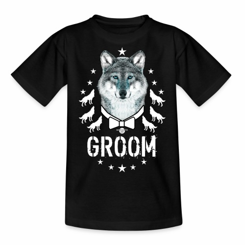 161 Wolf JGA GROOM Wolfpack Sterne - Teenager T-Shirt