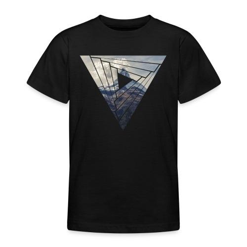 Matterhorn Zermatt Dreieck Design - Teenager T-Shirt