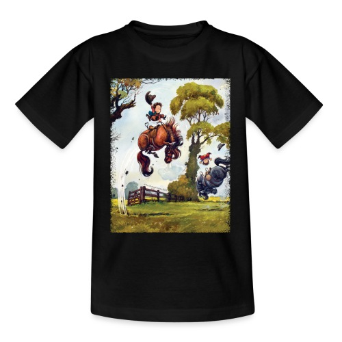PonyRodeo Thelwell Cartoon - Teenage T-Shirt