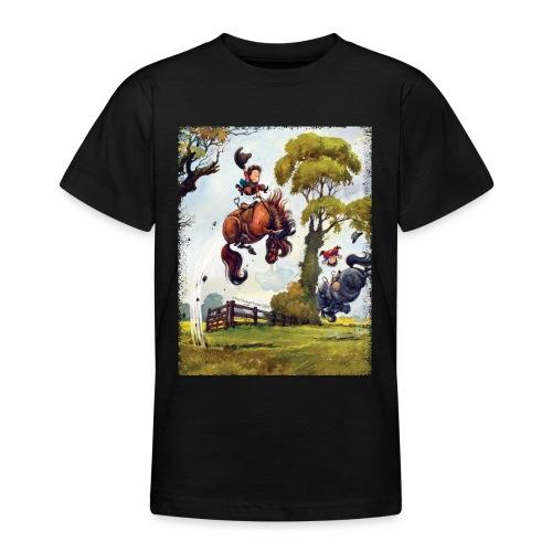 Thelwell Cartoon Pony Rodeo - Teenager T-Shirt
