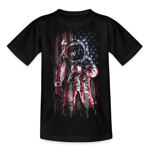 Astronaut Flag - Teenage T-Shirt