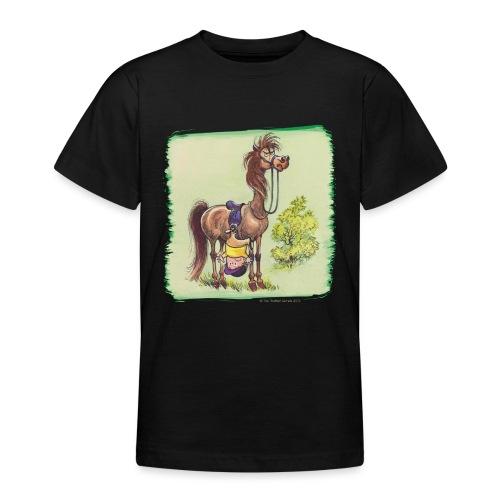 Thelwell Cartoon Reiter fällt runter - Teenager T-Shirt