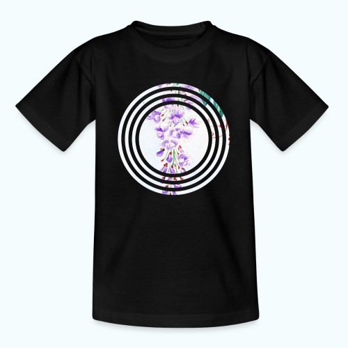 Japan vintage flowers watercolor - Teenage T-Shirt