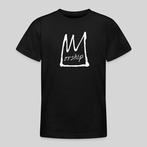 Worship Krone weiß - Lobpreis zu Jesus / Gott - Teenager T-Shirt
