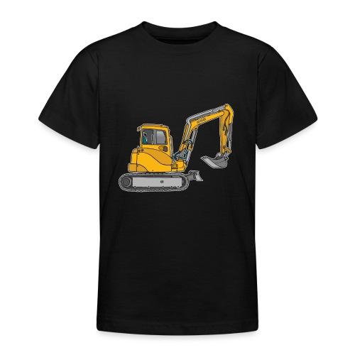 BAGGER, gelbe Baumaschine mit Schaufel und Ketten - Teenager T-Shirt
