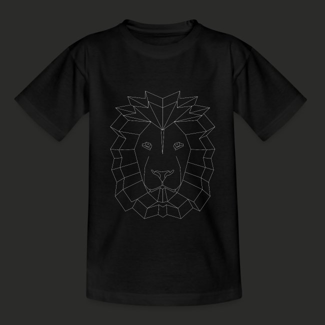 Geometric Lion Mens T-shirt