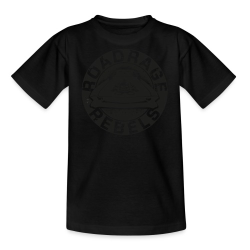 Roadrage Rebels Black - Teenage T-Shirt