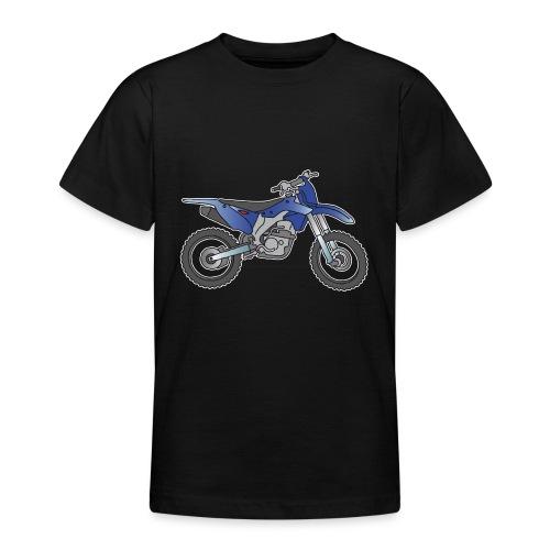 Blaue Motorcross Maschine - Teenager T-Shirt