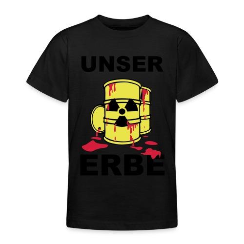 T-Shirt Frau Unser Erbe grün© by kally ART® - Teenager T-Shirt