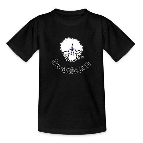 Ewenicorn (schwarze Ausgabe schwarzer Text) - Teenager T-Shirt