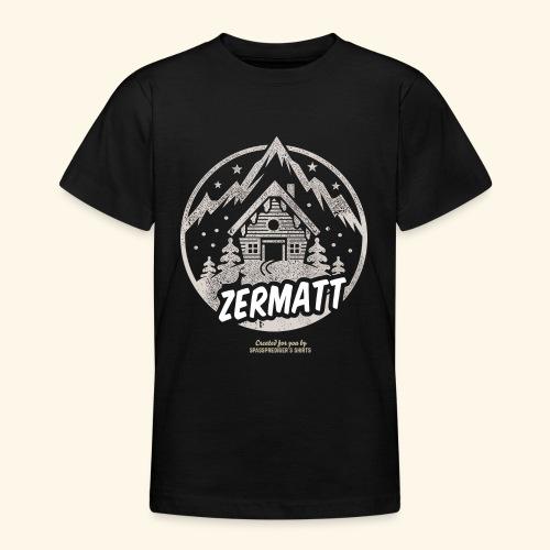 Zermatt Skigebiet Schweiz Design - Teenager T-Shirt