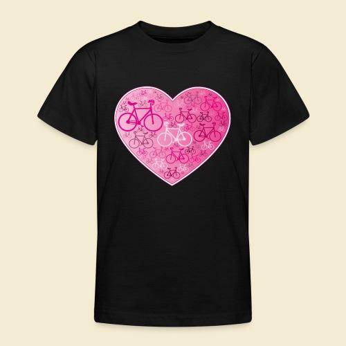 Kunstrad | Mein Herz rosa - Teenager T-Shirt