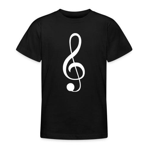 Musik Symbol Violinschlüssel Notenschlüssel - Teenager T-Shirt