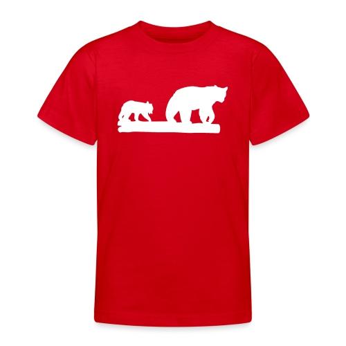 Bär Bären Grizzly Raubtier Wildnis Nordamerika - Teenager T-Shirt