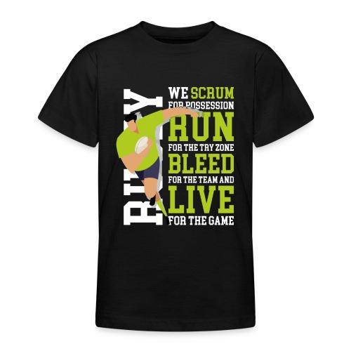 MarPlo Scrum Run Live whiteGreen - Maglietta per ragazzi