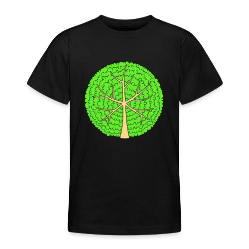 Baum, rund, hellgrün - Teenager T-Shirt