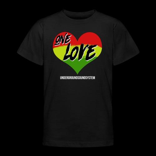 ONE LOVE - HEART - Teenager T-Shirt