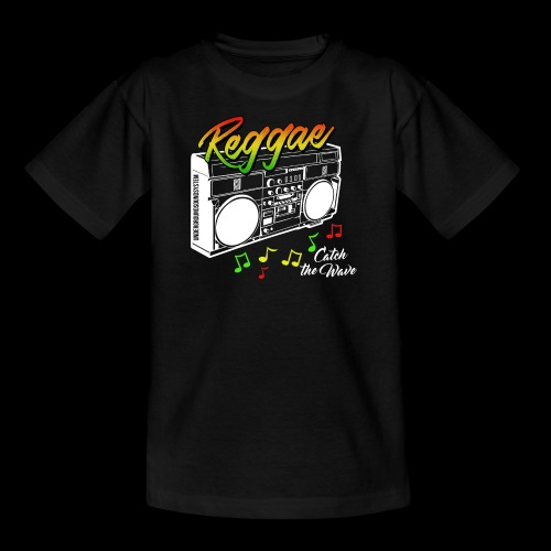 Reggae - Catch the Wave - Teenager T-Shirt