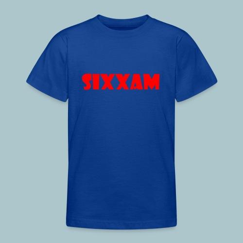 sixxam logo rood - Teenager T-shirt