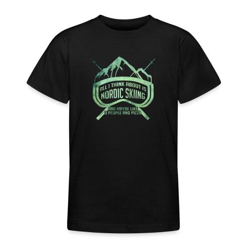 Nordic Skiing And Pizza People - Teenage T-Shirt