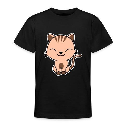 Fröhliche Katze - Teenager T-Shirt