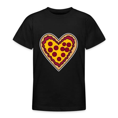 Pizza Herz - Teenager T-Shirt