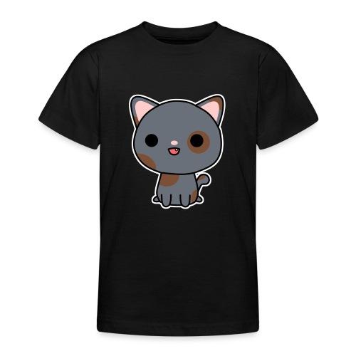 Glückliche Katze - Teenager T-Shirt