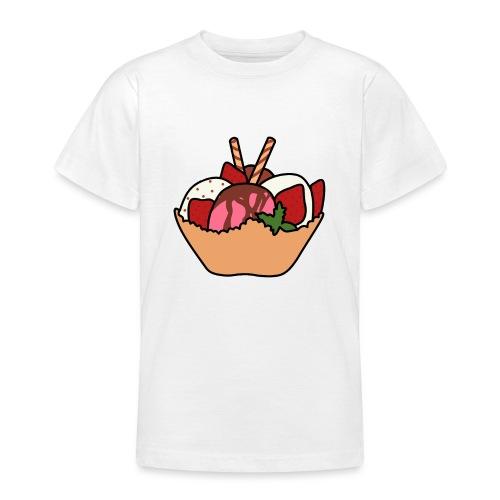 Eiscreme mit Waffel - Teenager T-Shirt