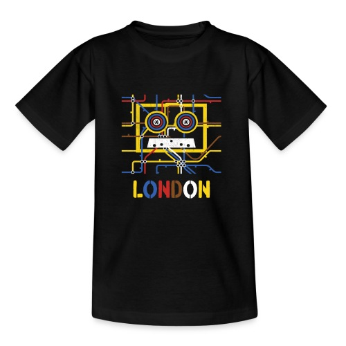 London Tube Map Underground - Teenager T-Shirt