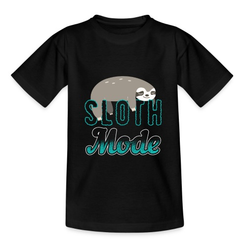 Sloth Mode Tired AF Running Shirt - Teenager T-Shirt