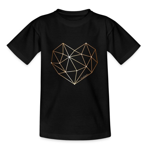 Herz in Diamant, Diamantherz - Teenager T-Shirt
