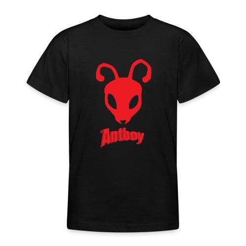 ANTBOY LOGO rød m tekst - Teenager-T-shirt