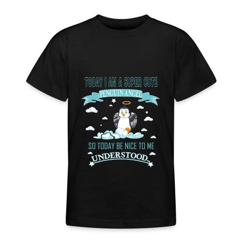 Pinguin Engel Weihnachten Antarktis Shirt Geschenk - Teenager T-Shirt