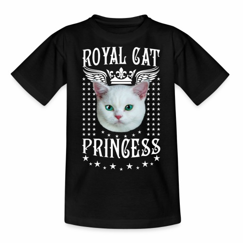 26 Royal Cat Princess white feine weiße Katze - Teenager T-Shirt