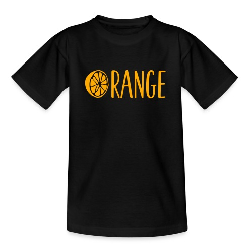Orange Lettering - Teenager T-Shirt