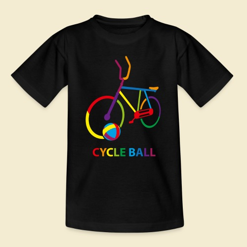 Radball | Cycle Ball Rainbow - Teenager T-Shirt