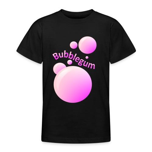 bubblegum glansig text och stora rosa bubblor - Teenage T-Shirt