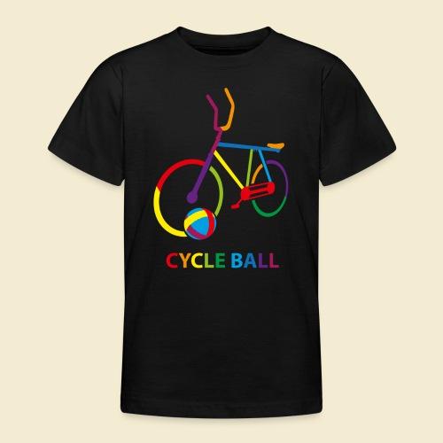 Radball | Cycle Ball Rainbow - Teenager T-Shirt